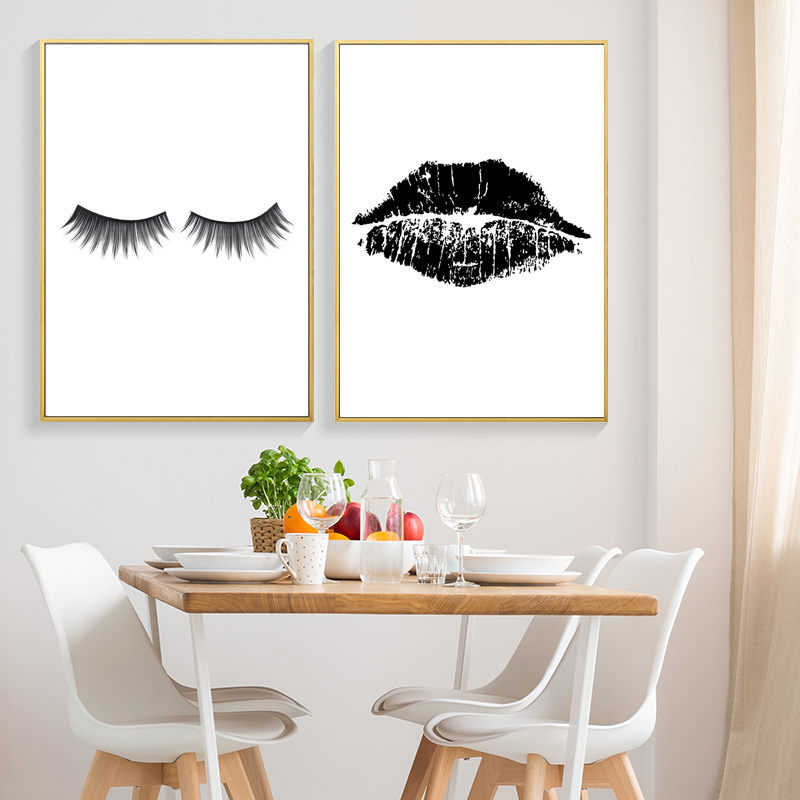 Lips Kiss Art Print Fashion Makeup Printable Wall Decor