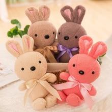30cm Cute Tie Rabbit Toy Soft Plush Toys Stuffed Animal Small Rabbit Plush Doll Children Toy Girls Ragdoll Gift 55 30cm japanese soft sister plush pillow cute rabbit ribbon cushion wave rabbit plush toy for baby gifts