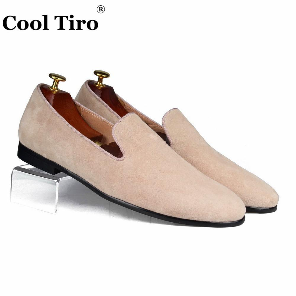 Cool Tiro Beige Suede Loafers Men Dress Shoes Slippers Men s Moccasins Genuine Leather Casual Shoes