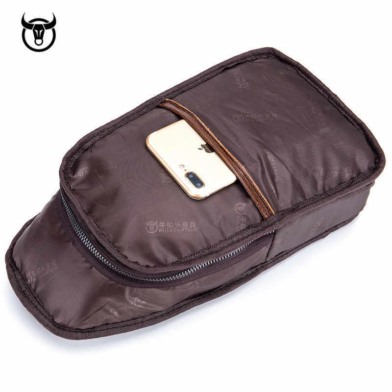 بولكابشن موضة جلد طبيعي حقائب كروسبودي الرجال العلامة التجارية الصغيرة الذكور حقيبة كتف الرجال عادية الموسيقى أكياس الصدر حقيبة ساعي