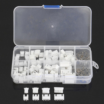 140PCS 2/3/4/5 Pins Male Female Assorted JST-XH 2.54mm Wire White Housing Connectors Set Jumper Pin Bare Terminals Kit 560pc 2 54mm jst xhp 2 3 4 5 pin housing with 2 54mm jst xh male female pin header dupont wire connector kit