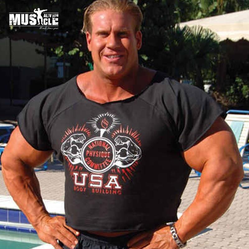 Online Shop MUSCLE ALIVE New Bodybuilding Rag Top 100% Cotton ...