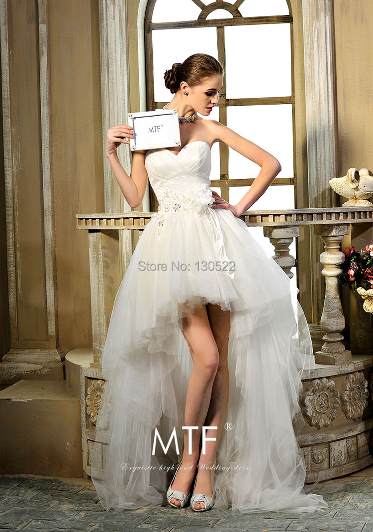 Free shipping WE 1925 Latest high low wedding dress patterns ...