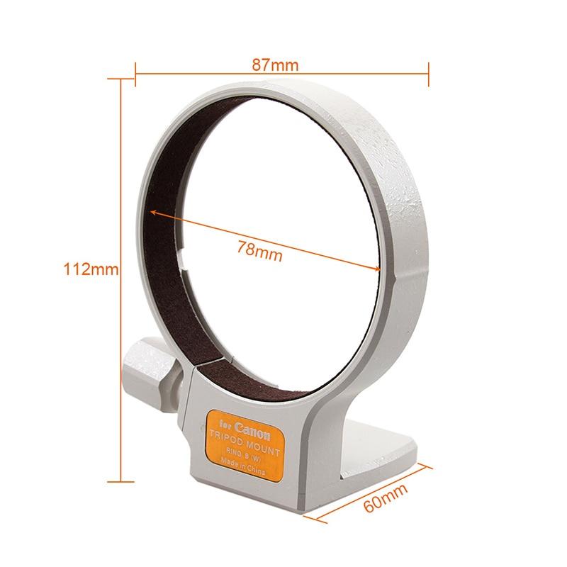 Alta calidad 77mm metal collar de montaje en trípode anillo B (W) para Canon EF 70-200mm f/2.8L/EF 100-400mm f5.6/EF 35 -350mm F5.6 es USM