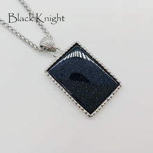 Black Knight 2019 NEW Starry sky Stone pendant necklace silver 316 stainless steel Navy metallic stone necklace fashion BLKN0637 стоимость