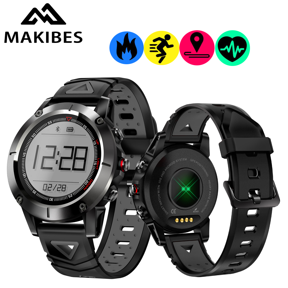 Makibes K6 GPS Compass Stainless Steel IP68 Speedometer Sport Watch Heart Rate monitor Multi-sport fitness tracker Smart Watch makibes br2 smart watch men gps smartwatches electronic compass heart rate monitor multi sport dynamic optical sports watch