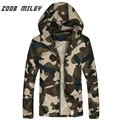 Hot Sale 2016 Man Camouflage Jacket Fashion Hooded Printed Thin Sunscreen Coats Plus Size M-3XL Zipper Fly Outerwear