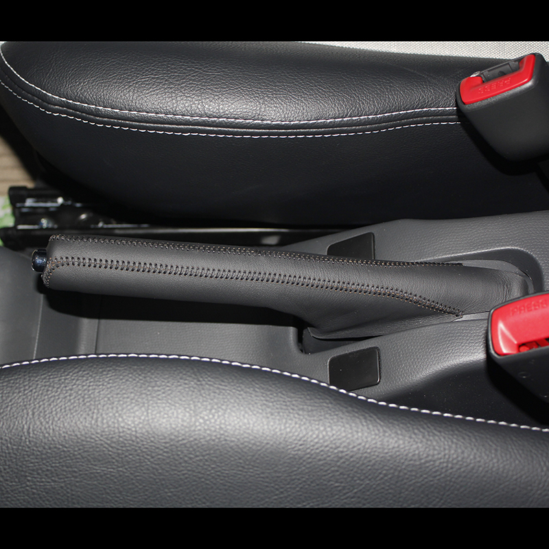Nappa Leather Handbrake Grips For Suzuki Swift Natural Leather Cover On The Handbrake Car Accessories Interior Genuine Leather