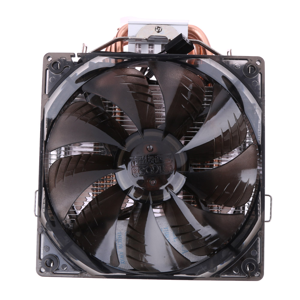 Dual Fan CPU Quiet Cooler Heatsink for Intel LG775 LG115X for AMD FM2 FM1 A jetting new dual fan cpu quiet cooler heatsink for intel lga775 1156 amd 95w spca