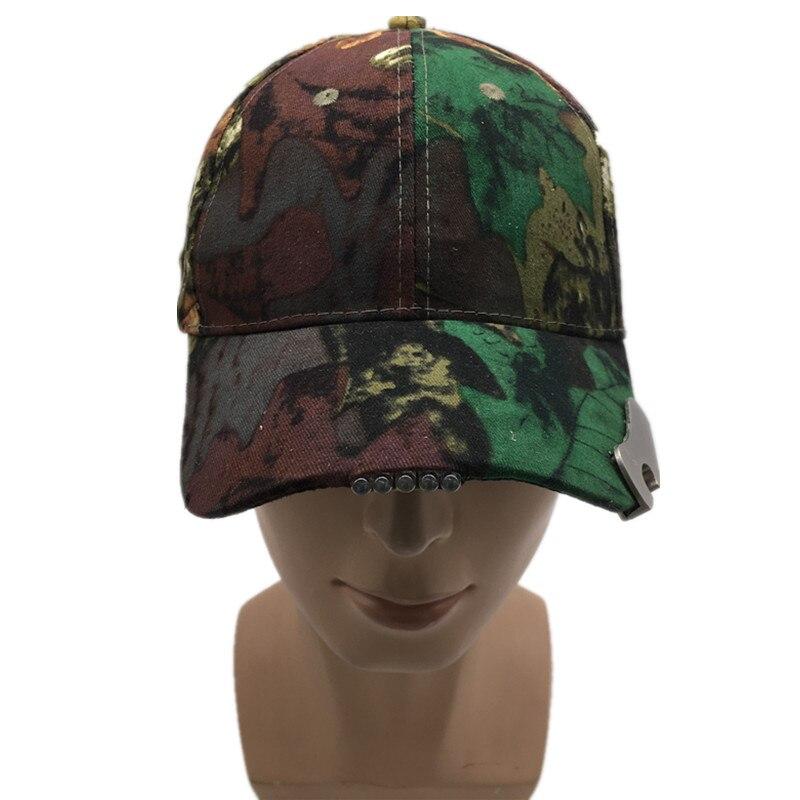100% New! Fluorescent hunting cap LED cap light outdoor Novel fishing cap TOP