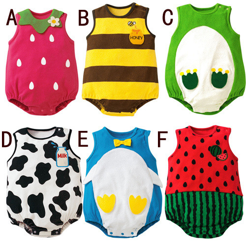 Summer Newborn lovely Sleeveless Baby Girls Jumpsuits baby Clothing Sets Romper Baby Boys Clothes Babies Rompers