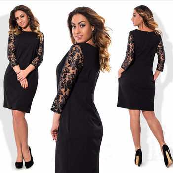 2019 Summer High Quality floral lace Plus size dress Women clothing Elegant office party Big Large size dress vestidos 5XL 6XL