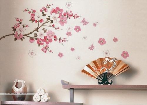 diy removable sakura flower bedroom vinyl decal art decor wall