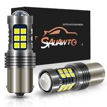 2X 1156 P21W BA15S LED DRL Driving Daytime Running Fog Lamp Day Light For Skoda Superb Octavia 2 FL 2010 2011 2012 2013