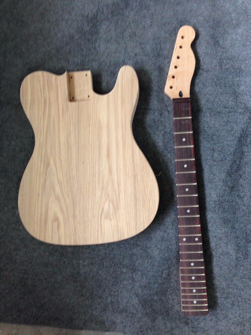 Usine vendre cendres corps TL guitare kits bricolage guitare pas de peinture pas de pièces comprises