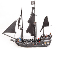 Creative LEPIN 16006 804Pcs Movie Series Ship Model Building Blocks Children Toys Compatible Pirates Caribbean