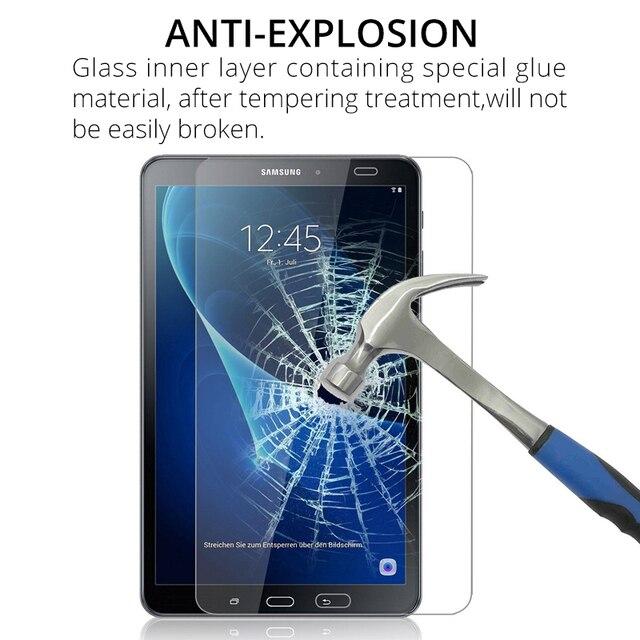 Claro Tablet de vidrio templado para Samsung Galaxy Tab A 7,0 de 8,0 de 9,7 10 10,1 T580 T585 Protector de pantalla transparente de protección película