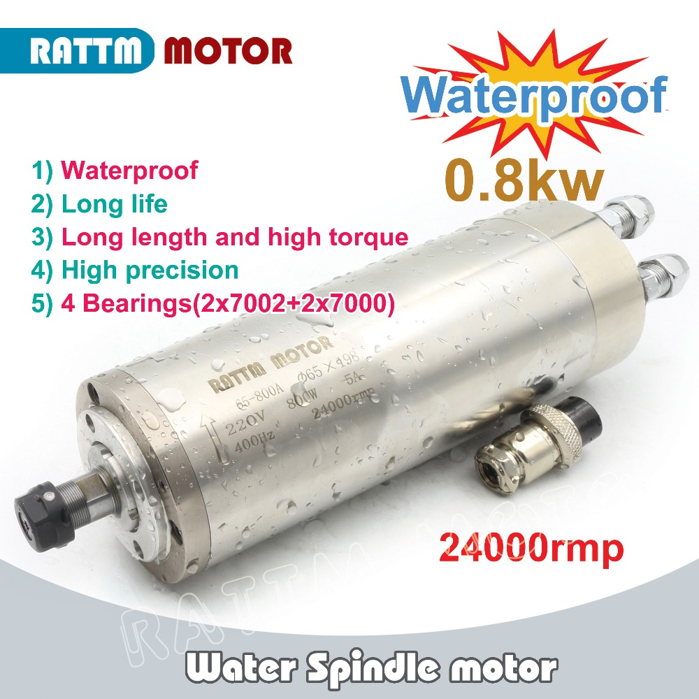 EU Delivery 0 8kw ER11 Waterproof spindle motor 4 bearing 220V Water cooled spindle CNC high