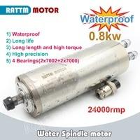 Entrega DA UE! ER11 0.8kw motor spindle 4 rolamento À Prova D' Água 220 V Água de refrigeração do eixo CNC high torque de alta precisão Eixo da máquina-ferramenta     -