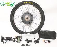 "FREE TAX TO EU 36V 48V Universal Electric Bicycle 1200W~1500W Conversion Kits 26"" 28"" 27.5"" Rear Wheel Ebike Brushless Motor Kit"