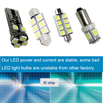 10pcs Per Set LED Bulb Interior  Dome Map Trunk Vanity Mirror Glove Box Lights Package Kit For Audi A6L 2006-2011 Car Stying
