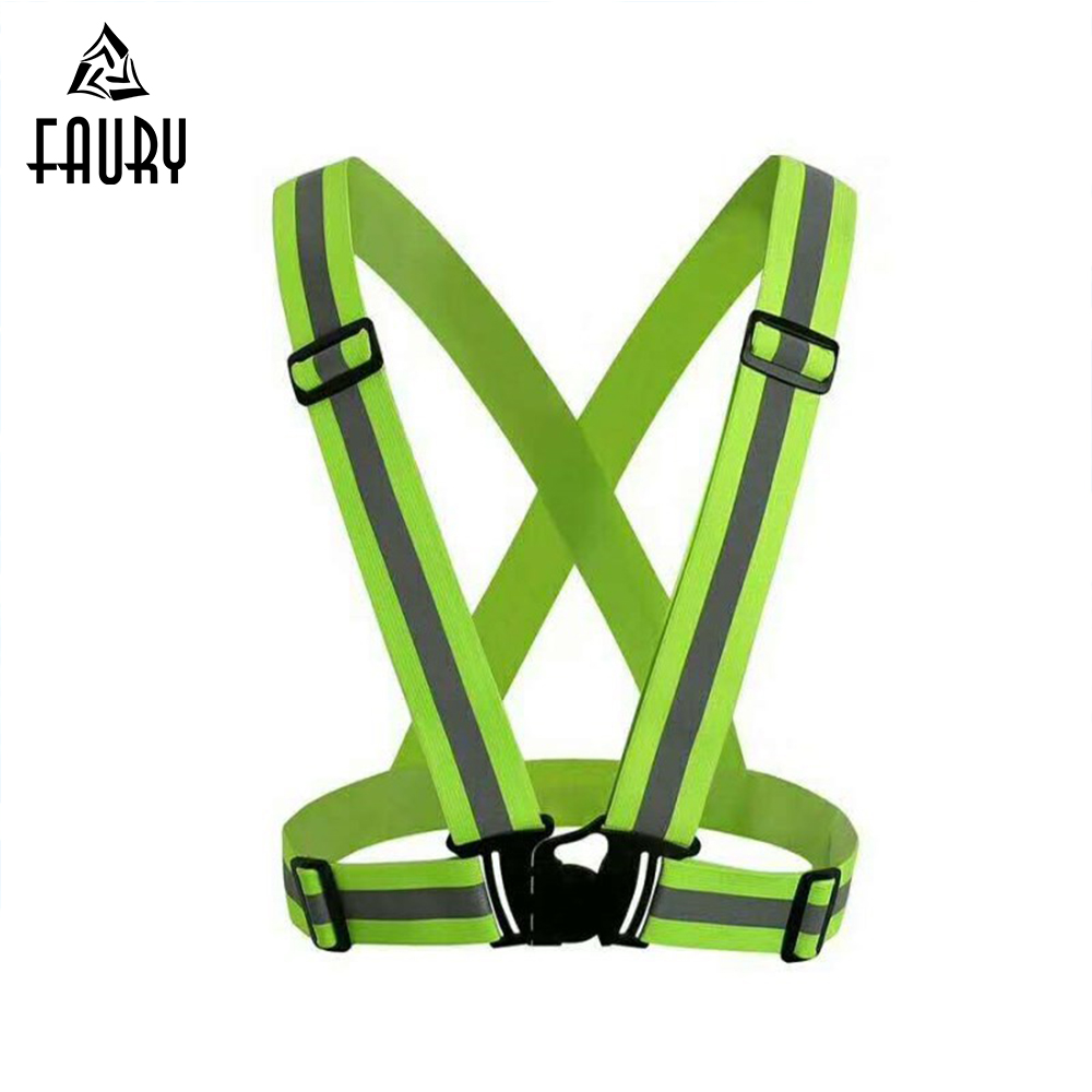 Reflective Safety Vest Strips Security Jacket Traffic Sanitation Reflective Strips Cycling Night Running Work Wear Uniforms