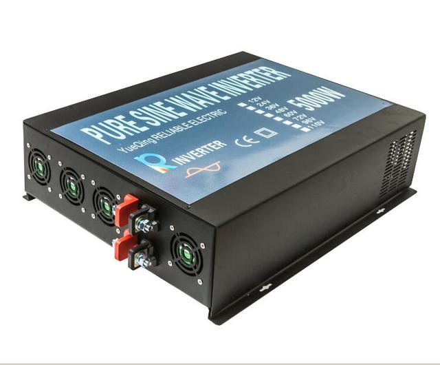 5000W DC to AC Voltage Converter LED Display Off Grid Pure Sine Wave Solar Power Inverter, DC AC Transformer Solar System