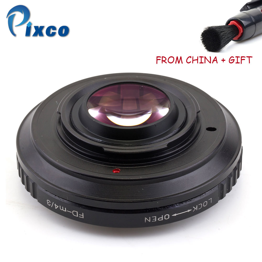 ADPLO 010829, FD-M4/3 Focal Reducer Speed Booster, Suit for FD Lens to Suit For Micro Four Thirds 4/3 Camera image