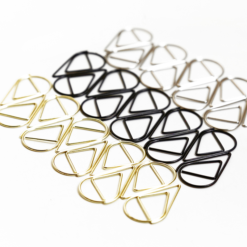 50 Pcs/Lot Metal Material Drop Shape Paper Clips Rose Gold Kawaii Bookmark Paper Clip Office School Stationery Marking Clip
