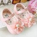 Koovan bebê plana doce bebê menina caminhantes primeiro novo 2017 flores de pérolas bonito shoes princesa do bebê macia shoes flats meninas #2712