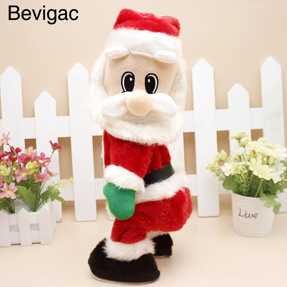 Electric Christmas Santa Claus Dance Doll Wiggle Hip Toy Funny Xmas Decoration Gifts Presents