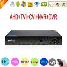 1080 P Kamera 2mp 1080N 8 Kanałowy 8CH Nadzór Wideo Rejestrator Hybrydowy 6 w 1 WIFI XVI NVR CVI TVI AHD DVR Darmowa Wysyłka
