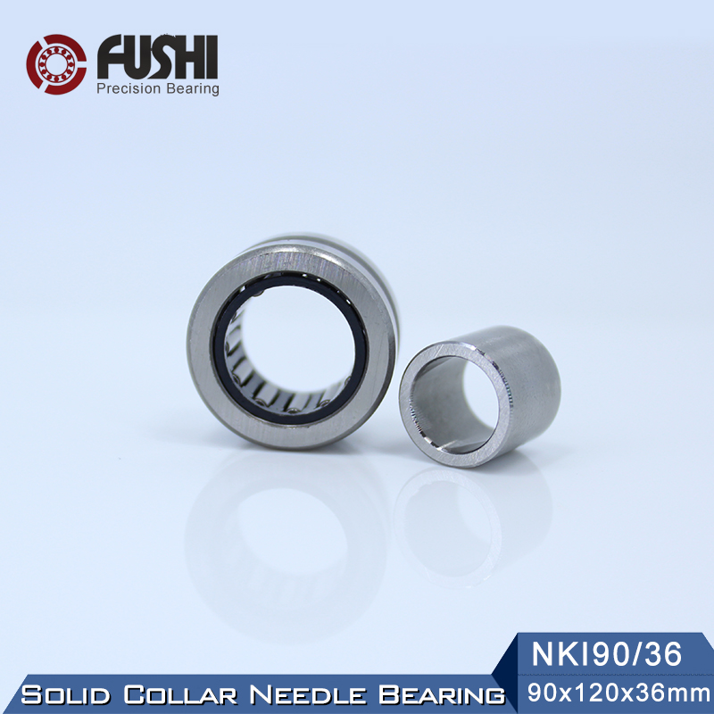 NKI90/36 Bearing 90*120*36 mm ( 1 PC ) Solid Collar Needle Roller Bearings With Inner Ring NKI 90/36 Bearing bk5020 needle bearings 50 58 20 mm 1 pc drawn cup needle roller bearing bk505820 caged closed one end 55941 50