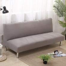Universal Stretch Armless Couch Sofa Covers For Living Room Home Decor Anti-slip Elastic Sofa Bed Covers Solid Color Slipcover(China)