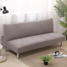 Universal-Stretch Armless Couch Sofa Abdeckungen Für Wohnzimmer Wohnkultur Anti-rutsch-gummiband Sofa Covers Einfarbig schonbezug