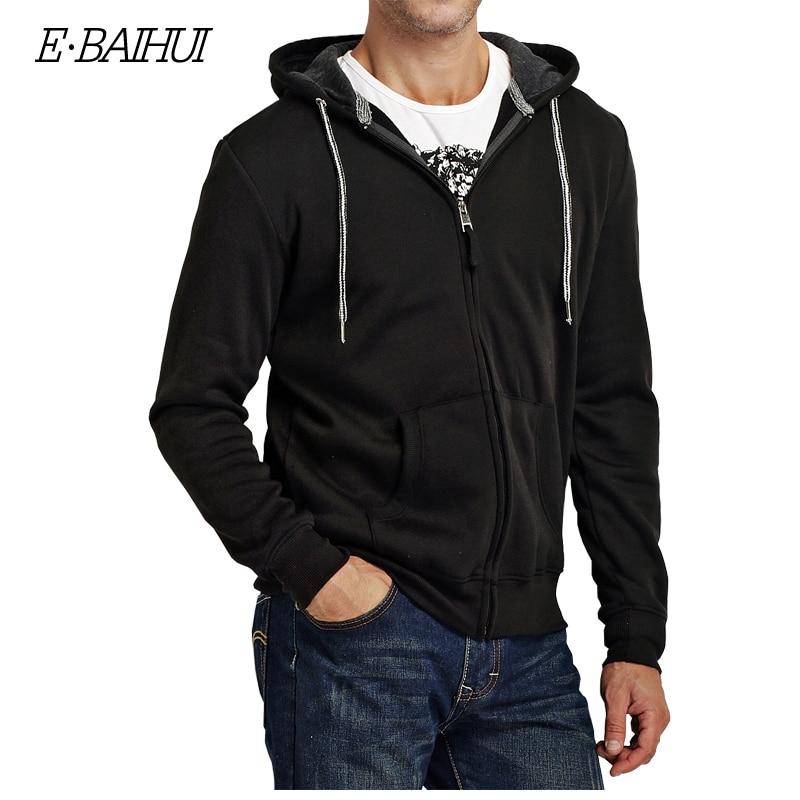 Muška odeća ... Duksevi ... 32742711192 ... 3 ... E-BAIHUI 2019 new autumn cotton zipper coats men's fashion hoodies and sweatshirts man casual winter hoodies men jacket 5742 ...