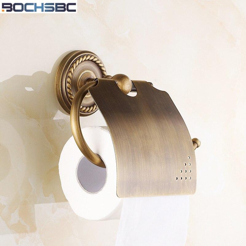 BOCHSBC Antique Toilet Paper Holder European Twist Base Paper Box Retro Tissue Bathroom Accessories Toalete Paper Holder