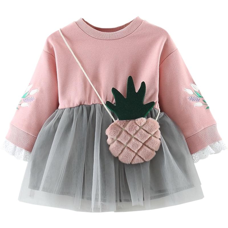 Cute, Girl, Autumn, Children, Dresses, Sleeve