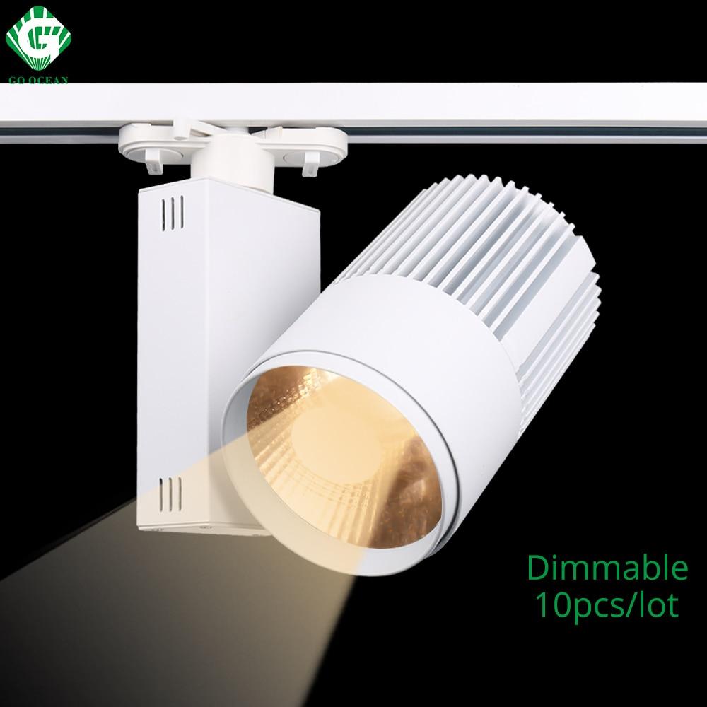 LED osvětlení COB 40W Stmívatelné moderní železniční bodové osvětlení Osvětlení Oblečení Obuv Prodejny Okna Osvětlení Osvětlení svítidla