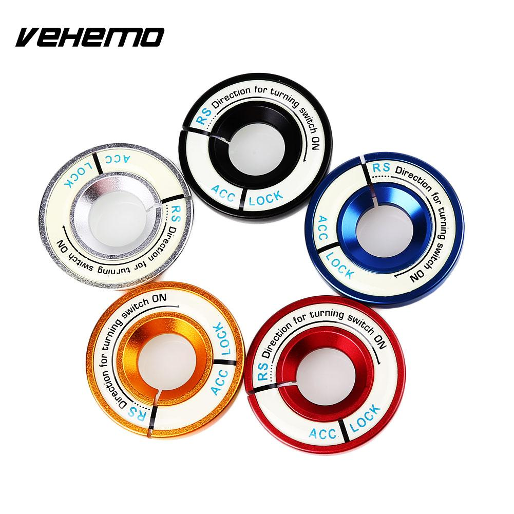 Red Luminous Ignition Keyhole Lock Ring Decor Protector For Ford Focus