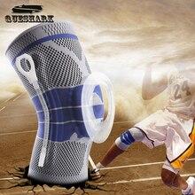 1 Unids Rodilleras Seguridad en Los Deportes de Baloncesto de Fútbol de Silicona Cinta de Snowboard Táctica Soporte de Rodilla Almohadillas de Protección de Rodilla de Ternera