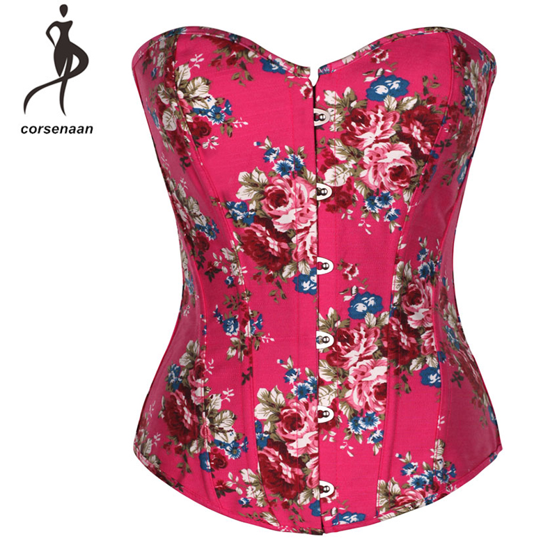 Elastic Boned Party Wear Costume Lingerie Waist Shaper Rose Peinted Sexy   Corset     Bustier   Top For Lady 850#
