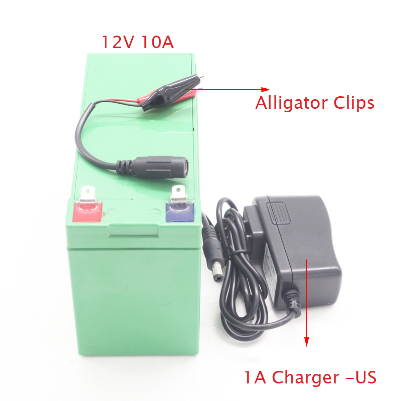 10A 12V rechargeable Li-polymer Li-ion battery cell pack for LED light bulb and electric sprayer atomiser atomizer nebulizer free customs taxes powerful 48v 1000w electric bike battery pack li ion 48v 34ah batteries for electric scooter for lg cell