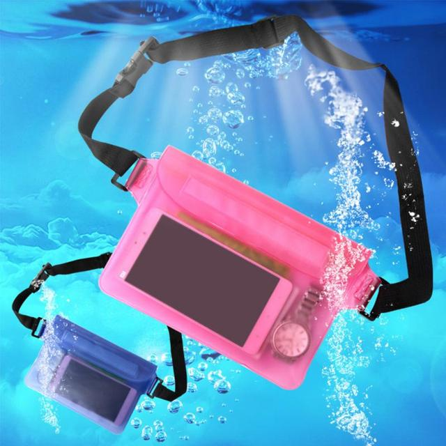 Three Layers Waterproof Underwater Waist Bag Fanny Pack  Beach Dry Pouch Phone Case Wallet