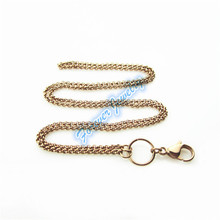 New styie 10pcs/lot 24 inches stainless steel floating locket chains rose gold rolo living locket chain necklace