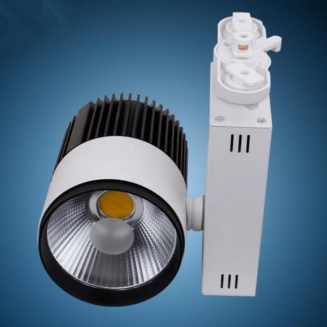 O envio gratuito de 30 W COB Levou Faixa Light Rail 30 W Lâmpada de Parede Local Levou Rastreamento lâmpada AC85-265V CE RoHS