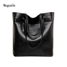 High Quality PU Leather Women Handbags Big Casual Totes Large Capacity Ladies Shoulder Bags Female Bags