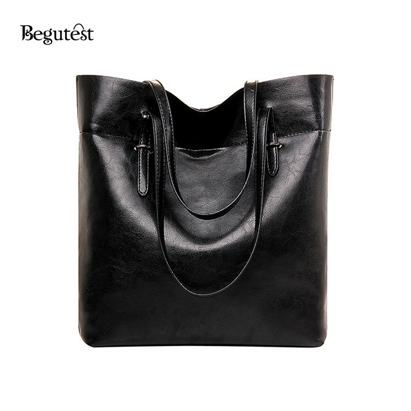 High Quality PU font b Leather b font Women font b Handbags b font Big Casual