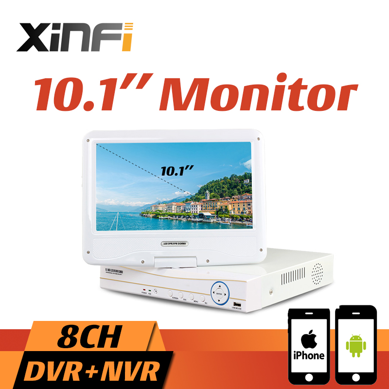10.1 LCD Monitor CCTV 4CH/8CH HVR 1080P Recorder DVR HDMI Output 4CH AHD/CVI/TVI 8CH IP Camera NVR Support Remote View Onvif гваева и делопроизводство учебный справочник