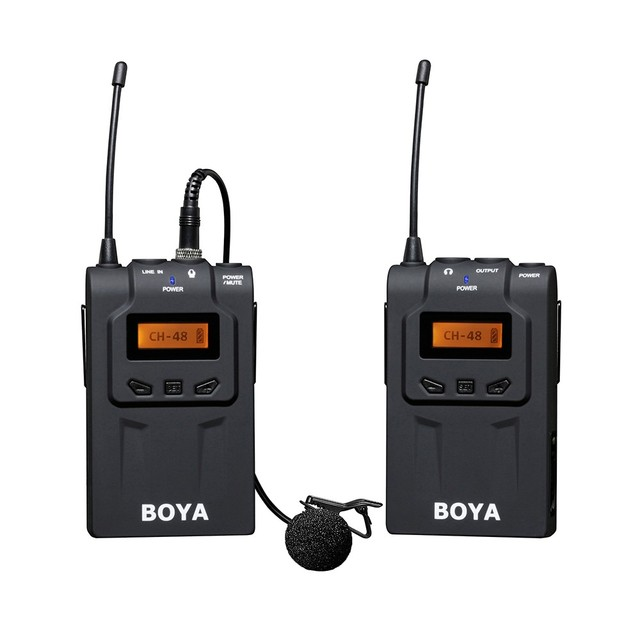 BOYA BY-WM6 / BY-WM5 UHF Wireless Microphone System Omni-directional Lavalier Microphone for ENG EFP DV DSLR